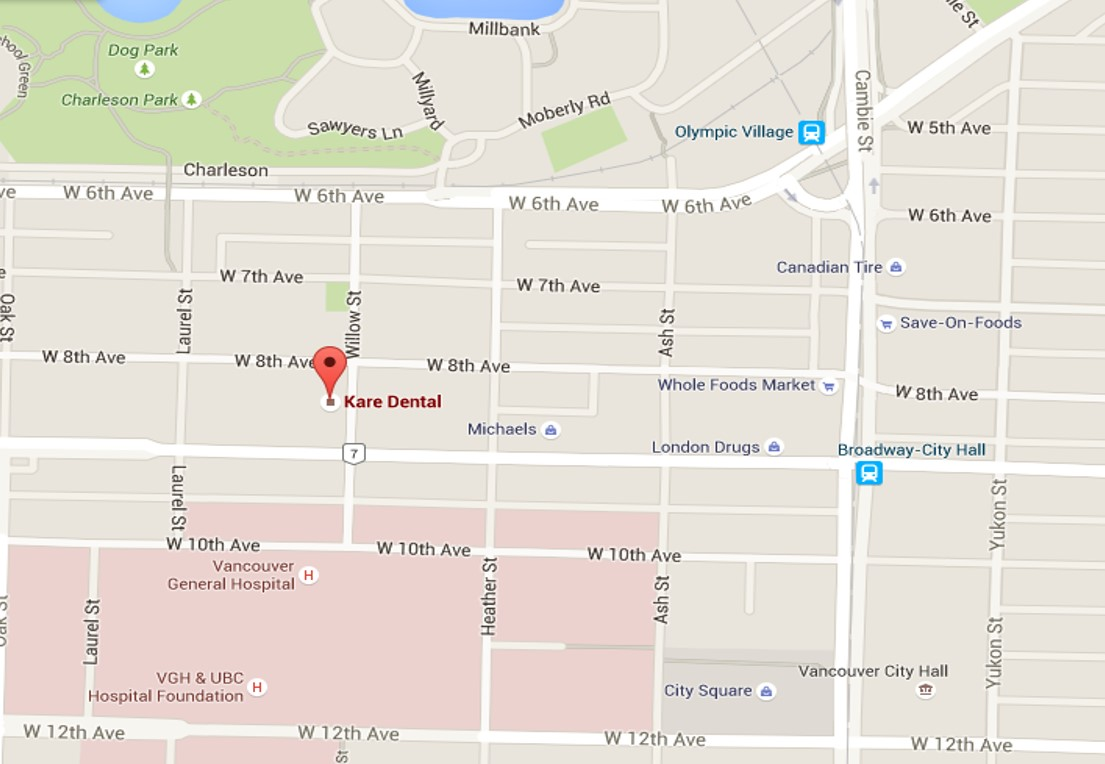 Kare Dental Vancouver Map